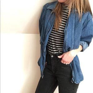 Vintage denim shirt jacket